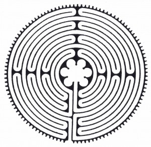 A Chartres-styly labyrinth