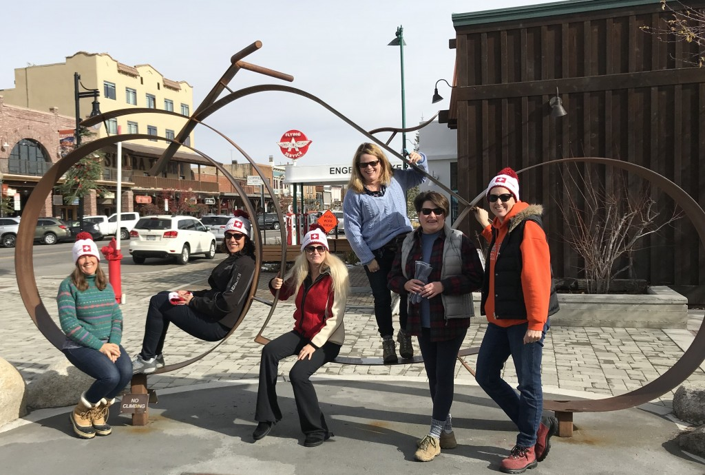 Mary, Renata, Helen, Anne, me, and Dawn in downtown Truckee, CA. November 2017